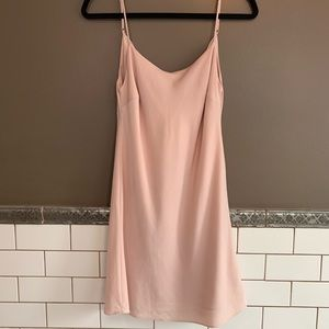 Lulu blush slip dress